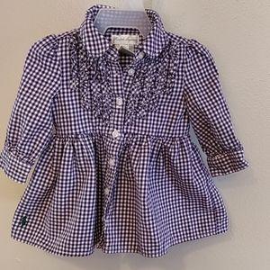 Purple checkered dress
